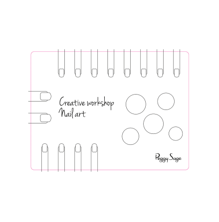 Creative workshop nail art mat