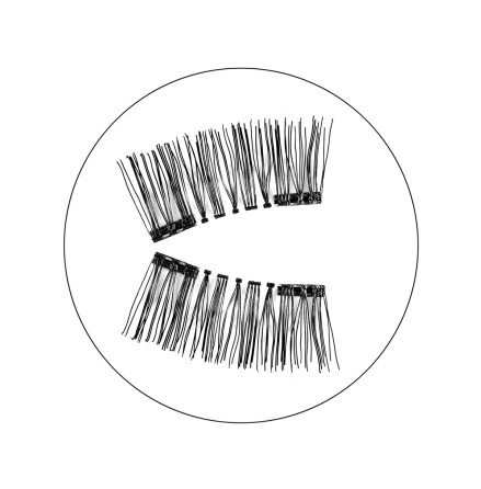 Magnetic false eyelashes - Audrey