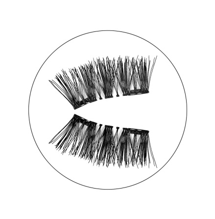 Magnetic false eyelashes - Amandine