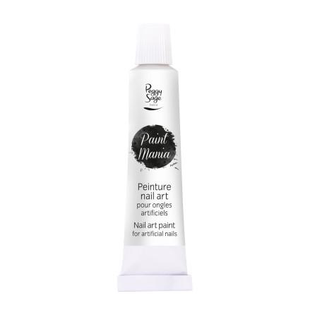 Nailart färg - Paint mania white 12ml