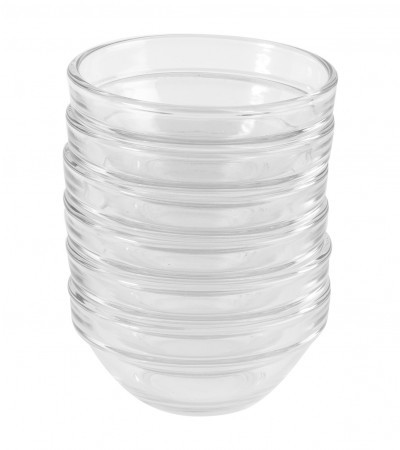 6 Pyrex mini-skålar, D 6 cm