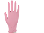 Nitrilhandske puderfri Storlek S rosa 100st
