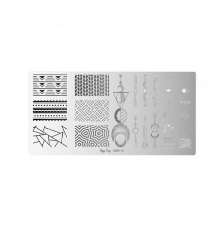 Nail art stamping plate - Geometric
