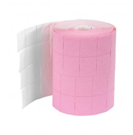 Cellulosapads rosa för naglar 2 st rullar 500 x2
