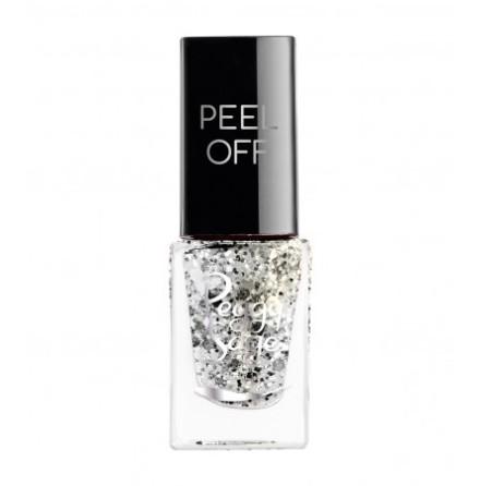 Nagellack peel off silver glitter 5ml