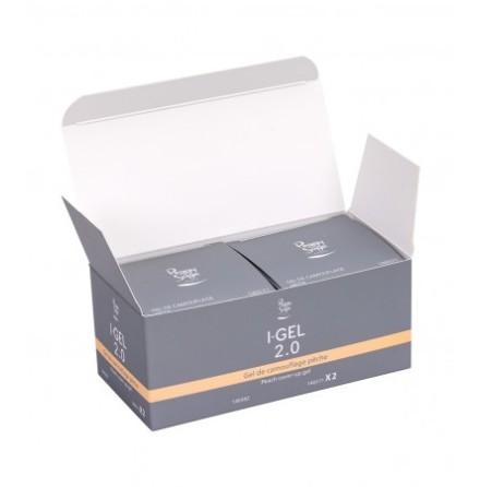 Paket 2 st UV&LED I-GEL 2.0 cover-up gel, peach - 50 g 1
