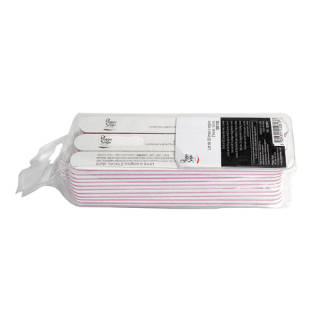 30-pack 2-sidiga nagelfilar 100/100, white