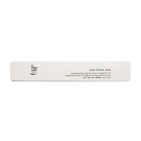 2-sidig rektangulär nagelfil 100/100, white