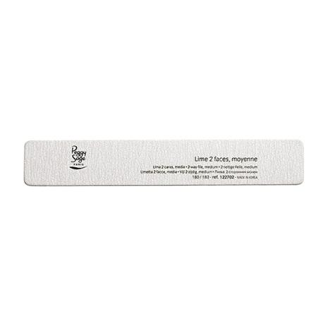 2-sidig rektangulär nagelfil 180/180, zebra