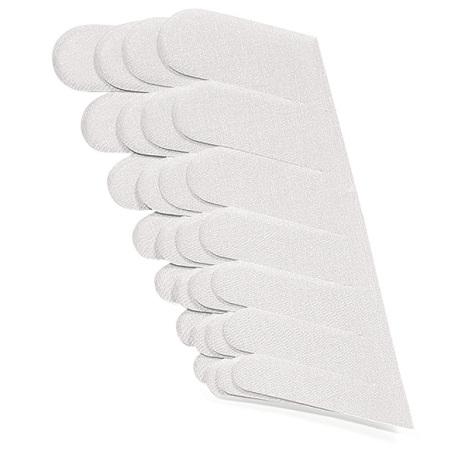 70 vita silkesremsor