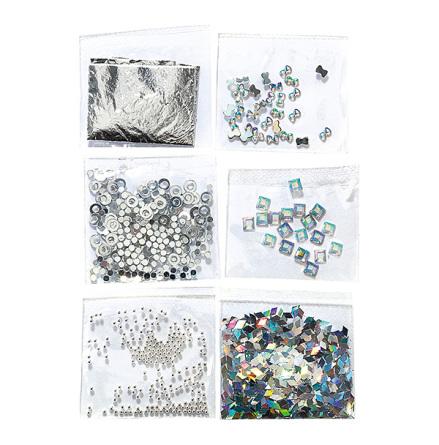Nail art mini kit - argent