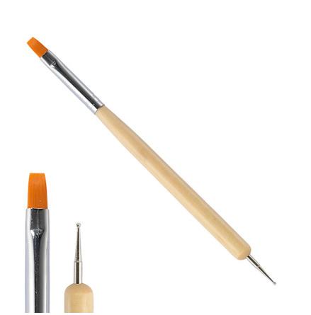 2-in-1 platt pensel / marbling tool