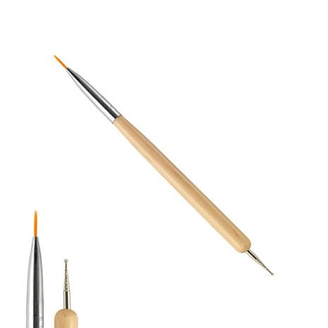 2-in-1 nailart pensel / marbling tool