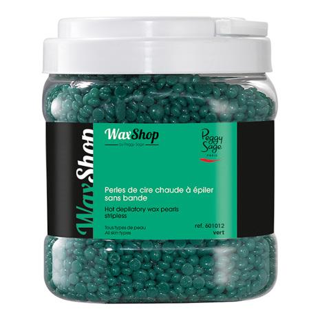 Varmt vax, utan remsa- 1 kg pärlor vert