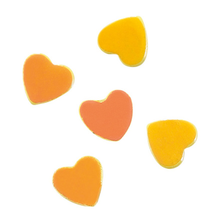 Nagelglitter yellow hearts