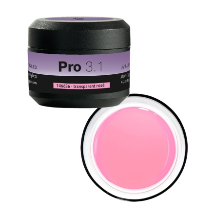 3.1 Builder gel UV transparent Rosa 15g